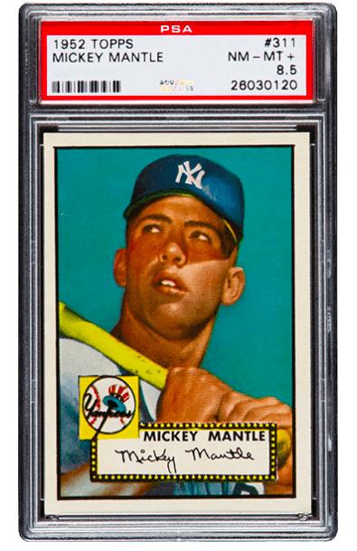 1952 Topps Mickey Mantle rookie