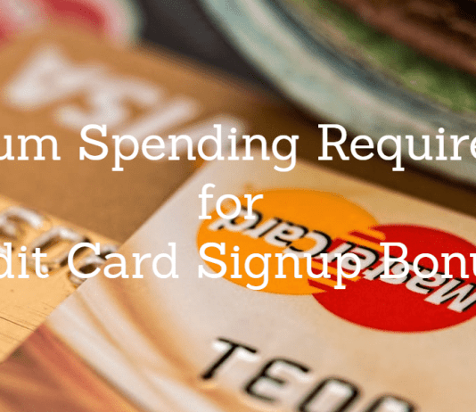 minimum spend for credit card offers