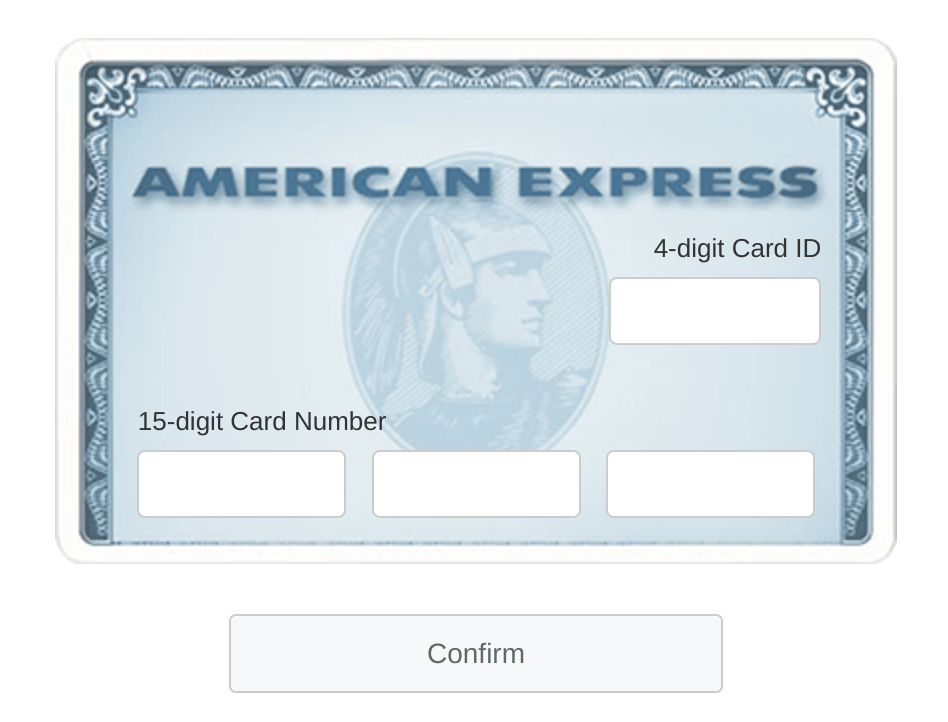 AmericanExpress.com ConfirmCard (AMEX Card Confirmation)