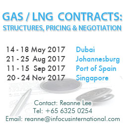 Gas LNG Contracts Structures Dubia Johannesburg Port of Spain Singapore