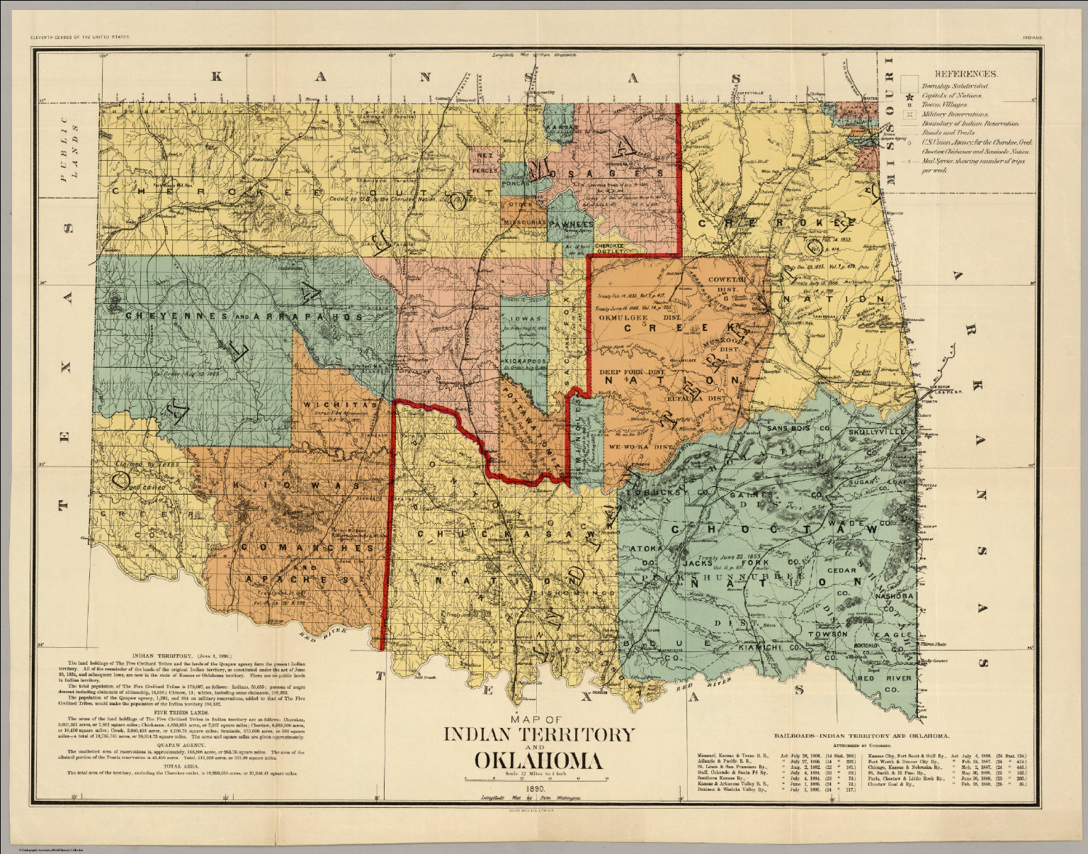oklahoma indian territory1890