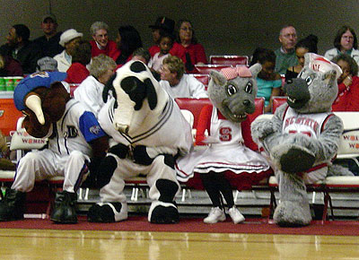 Mascots Steal The Show At Nc State Women S Basketball Game
