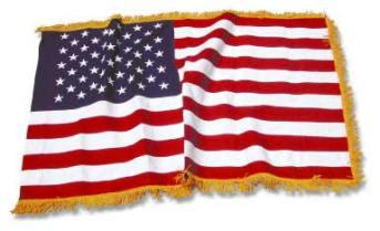 us flag gold fringe