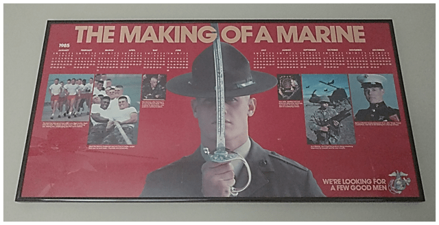 1985 Marine Corps Recruiting Poster - featuring John Stuart Edwards - Families of Virginia