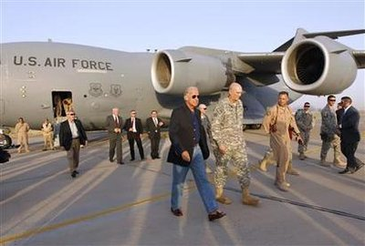 Vice President Joe Biden arrives in Baghdad (Reuters)