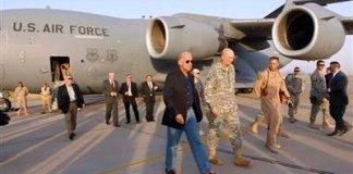 Vice President Joe Biden arrives in Baghdad (Reuters)