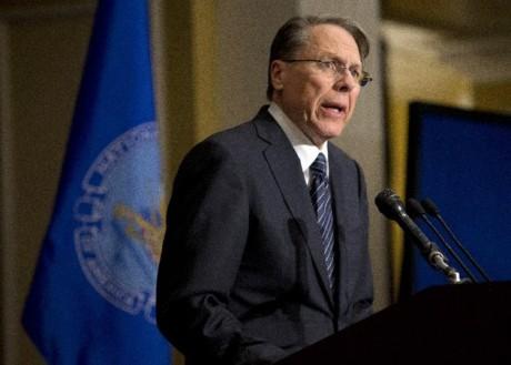The National Rifle Association executive vice president Wayne LaPierre. (AP Photo/Evan Vucci)
