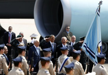 Obama's arrival in Israel (Reuters)