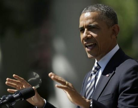 President Barack Obama speaks in the Rose Garden of the White House, in Washington. (AP Photo/Pablo Martinez Monsivais)