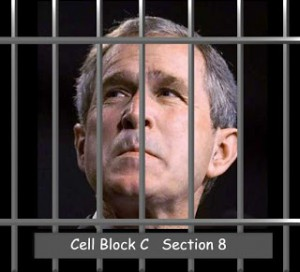 George W. Bush: Maybe he and Obama could be cell mates?