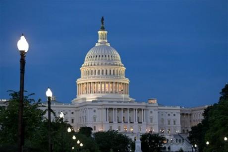 The U.S. Capitol is seen in Washington, Sunday night, June 23, 2013.  (AP Photo/J. Scott Applewhite)