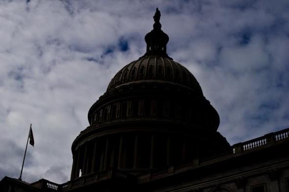 A bleak day at a bleak capitol (AFP/Nicholas Kamm)