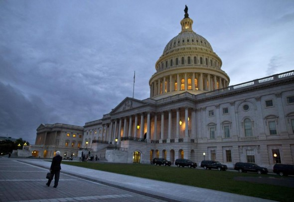 Lots of long nights at the Capitol. (AP/Evan Vucci)