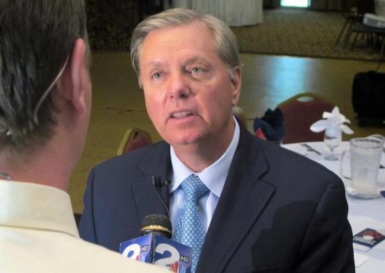 Publicity seeking Sen. Lindsey Graham, R-SC. (AP Bruce Smith)