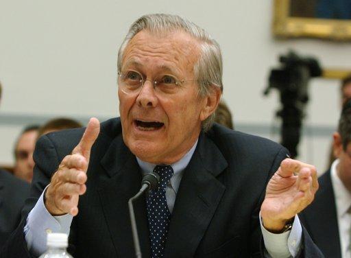 Former Defense Secretary Donald Rumsfeld     (AP Photo/Dennis Cook, File)