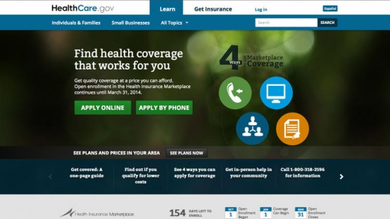 The HealthCare.gov web site.