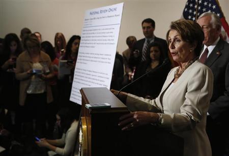 House Minority Leader Nancy Pelosi (D-CA) REUTERS/Yuri Gripas