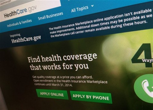The Obamacare web site.