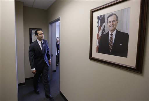 George P. Bush, the grandson of one former president and nephew of another. (AP Photo/Eric Gay)