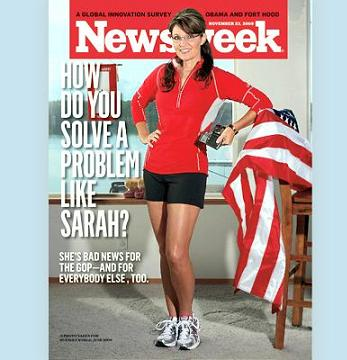 Palin on the cover of Newsweek magazine.