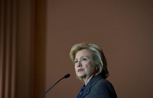 Hillary Clinton. (AFP Photo/Nicholas Kamm)