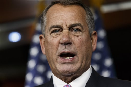 House Speaker John Boehner.  (AP Photo/J. Scott Applewhite)