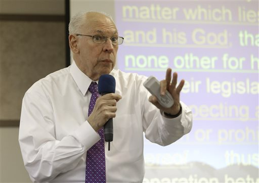 "Rafael Cruz speaks during a tea party gathering Friday, Jan. 10, 2014, in Madisonville, Texas."" (AP Photo/Pat Sullivan)"