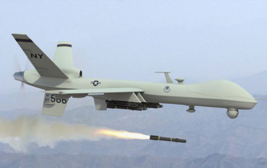 American military drone in action.