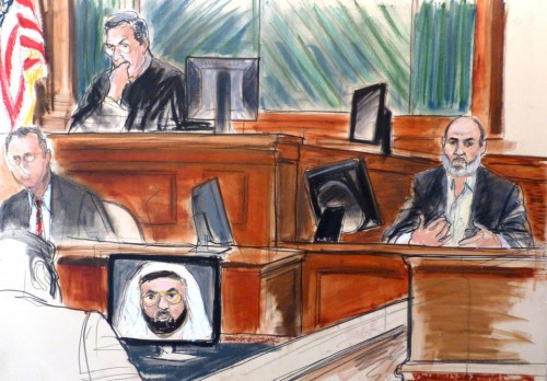 Osama bin Laden's son-in-law, Sulaiman Abu Ghaith, testifies. (AP/Elizabeth Williams)