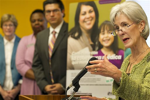 U.S. Secretary of Health and Human Services Kathleen Sebelius   (AP Photo/Austin American-Statesman, Ralph Barrera)