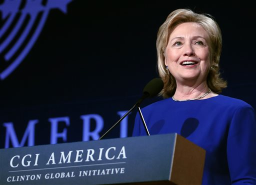 Former Secretary of State Hillary Rodham (AP Photo/Brennan Linsley)