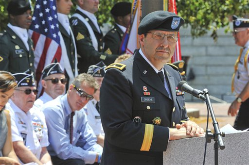 In this May 10, 2011, photo provided by the U.S. Army Gen. Harold Greene (U.S. Army)