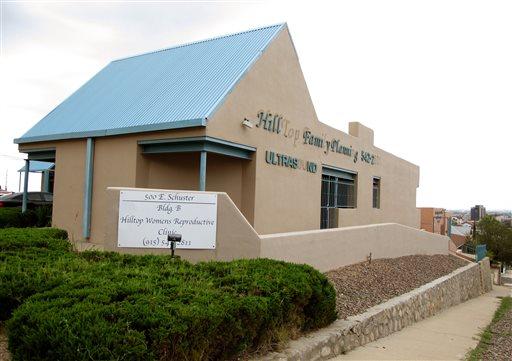 The Hilltop Women's Reproductive clinic in El Paso, Texas.   (AP Photo/Juan Carlos Llorca)