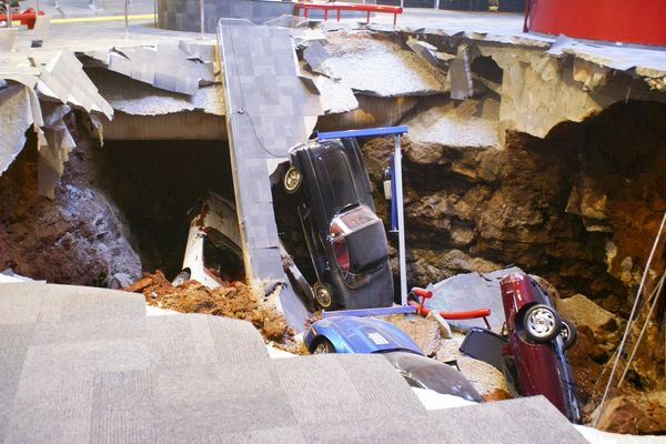 The sinkhole that ate Corvettes in Kentucky