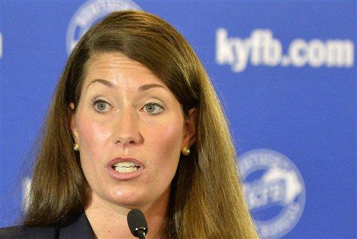 Kentucky Democratic Senate challenger Alison Lundergan Grimes  (AP Photo/Timothy D. Easley)