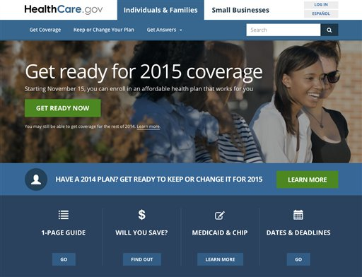 An updated version of HealthCare.gov (AP Photo)