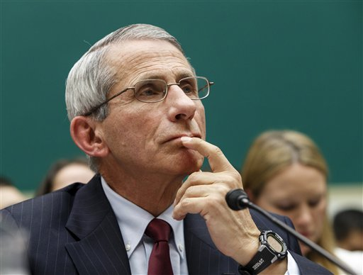 Dr. Anthony Fauci, director of The National Institute of Allergy and Infectious Diseases, testifies on Capitol Hill  (AP Photo/J. Scott Applewhite)