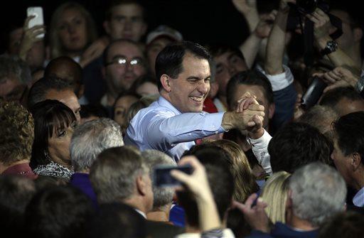 Wisconsin Republican Gov. Scott Walker  (AP Photo/Morry Gash)