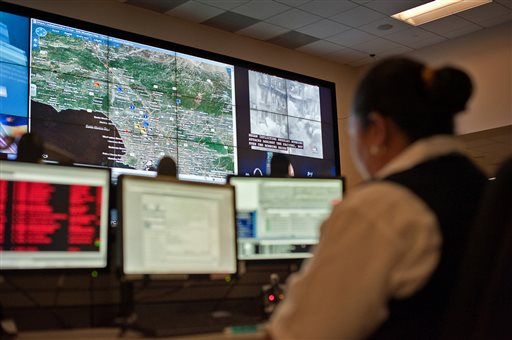 Los Angeles Police Department's downtown command center (AP Photo/Jupiter Systems, Brad Howell)