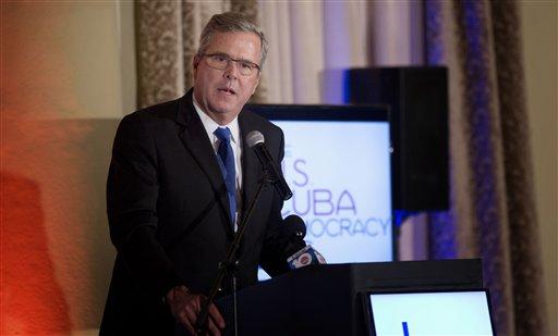 Former Florida Gov. Jeb Bush  (AP Photo/J Pat Carter)