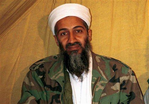 Osama bin Laden in Afghanistan.   (AP Photo/File)