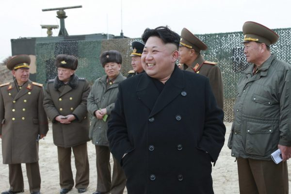 North Korean leader Kim Jong Un guides the multiple-rocket launching drill of women's sub-units under KPA Unit 851, in this undated photo released by North Korea's Korean Central News Agency (KCNA) in Pyongyang (REUTERS/KCNA)