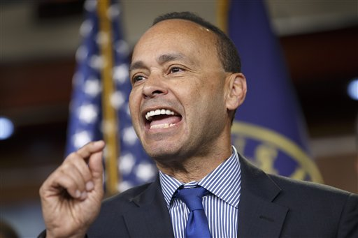 Rep. Luis Gutierrez, D-Ill., a leading advocate in the House for comprehensive immigration reform, leads a news conference with fellow Democrats on the implementation of President Barack Obama's executive actions to spare millions from immediate deportation  (AP Photo/J. Scott Applewhite)