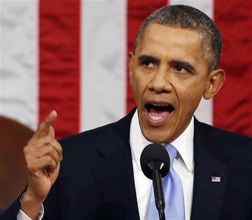 President Barack Obama delivers the State of Union address before a joint session of Congress in the House chamber in Washington last year.  (AP Photo/Larry Downing, Pool, File)