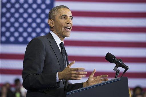 President Barack Obama speaks in Chicago. (AP Photo/Evan Vucci)