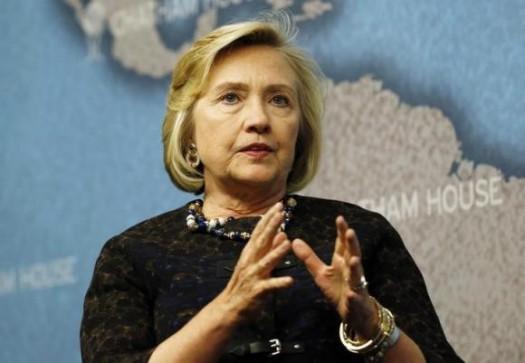 Former U.S. Secretary of State Hilary Clinton (REUTERS/Olivia Harris)