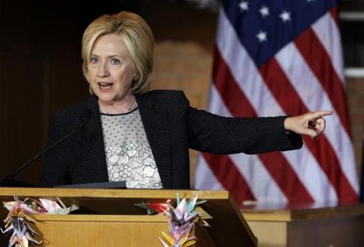 Democratic presidential candidate Hillary Rodham Clinton. (AP Photo/Jeff Roberson)