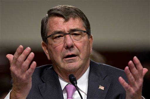 Defense Secretary Ash Carter testifies on Capitol Hill in Washington. (AP Photo/Carolyn Kaster)