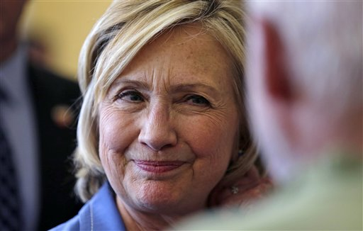 Democratic presidential candidate Hillary Rodham Clinton. (AP Photo/Charles Krupa)