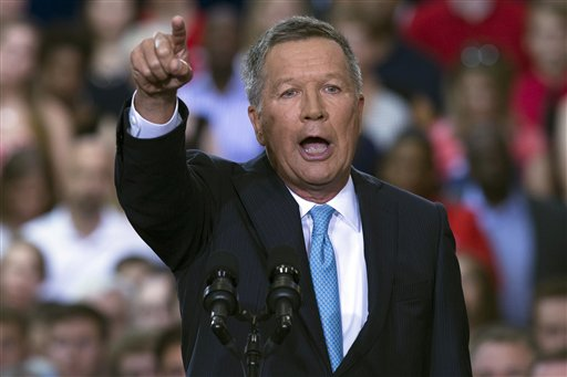Ohio Gov. John Kasich announces he is running for the 2016 Republican party nomination for president. (AP Photo/John Minchillo)